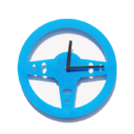 Drive - Steering Wheel Wall Clock - Blue
